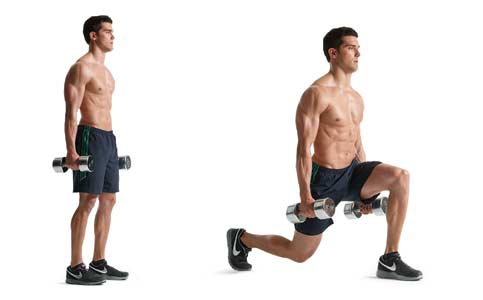 Dumbbell-Lunges