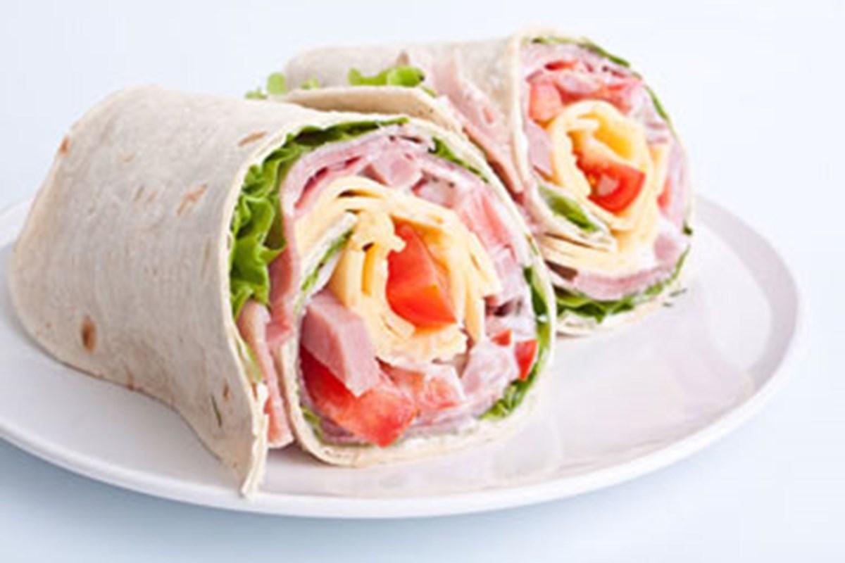 Wraps med skinke