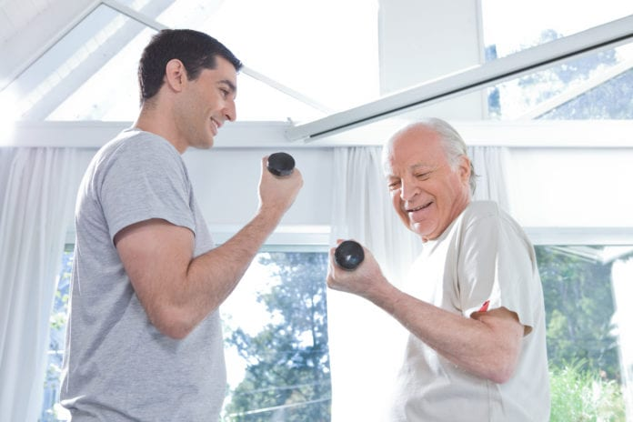 trening holder kroppen ung