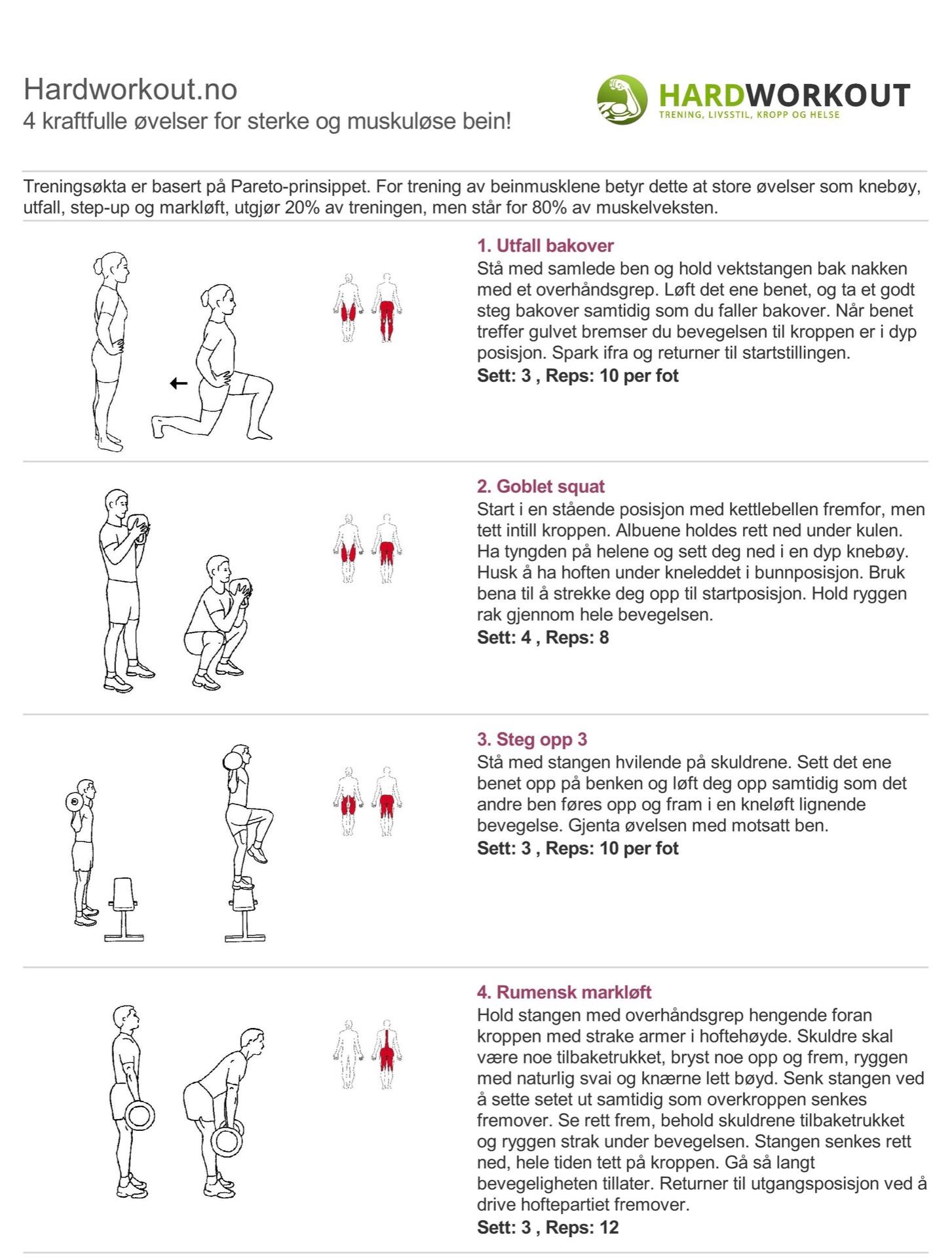 4 kraftfulle øvelser for sterke og muskuløse bein!