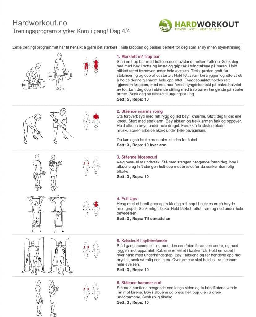 treningsprogram styrke