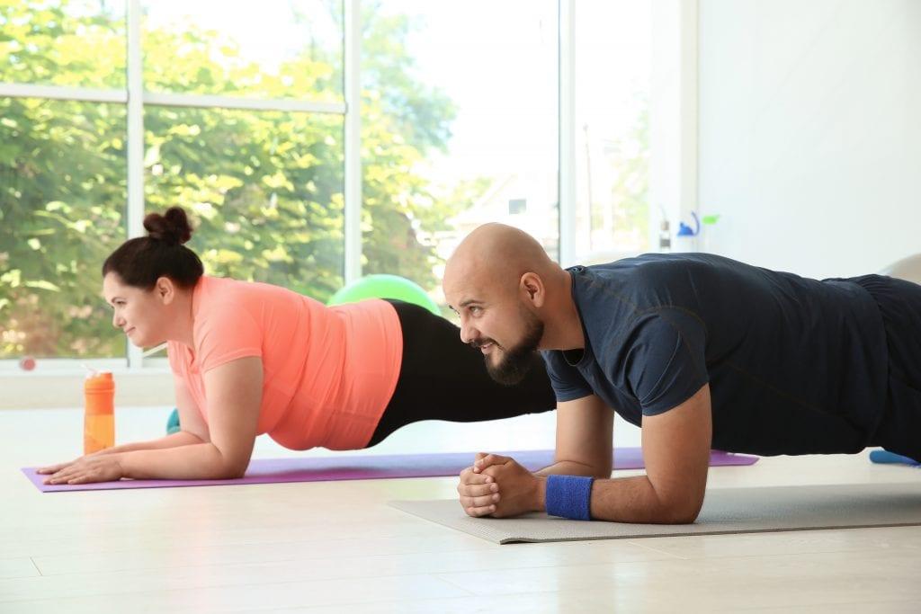 overvekt trening